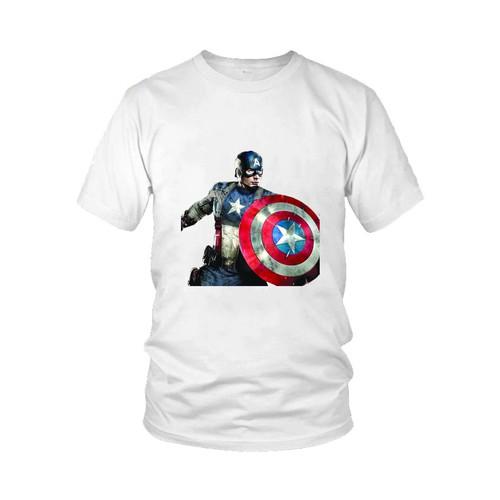 Áo thun in hình Captain America Mẫu 9