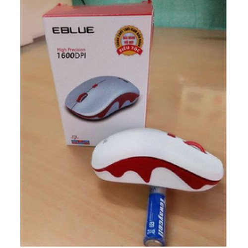 Chuột không dây eblue chính hãng có công tắc kèm pin