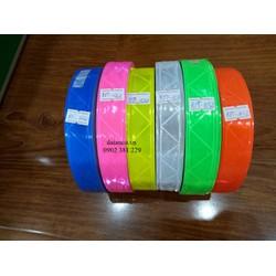 SIÊU GIẢM GIÁ - Cuộn dây phản quang nhựa bản 2,5cm*50m - hàng có sẵn 6 màu lựa chọn