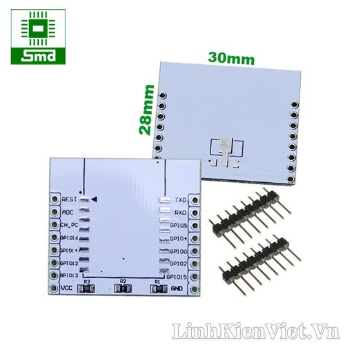 Combo 3 Adapter ESP-07 ESP-12 ESP-12E ESP8266 Đế module ESP