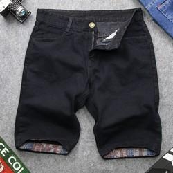 Quần short jean nam đen trơn vải đẹp HN169 shop hân nhi quần short jean  quần jean nam