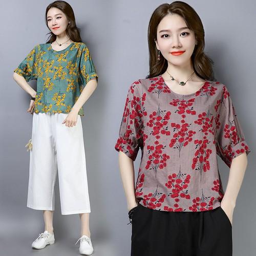 Áo kiểu nữ họa tiết hoa nhí a5281