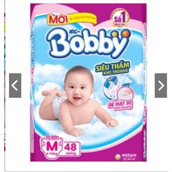 Tã dán bobby size m48 L42 XL38 chính hãng