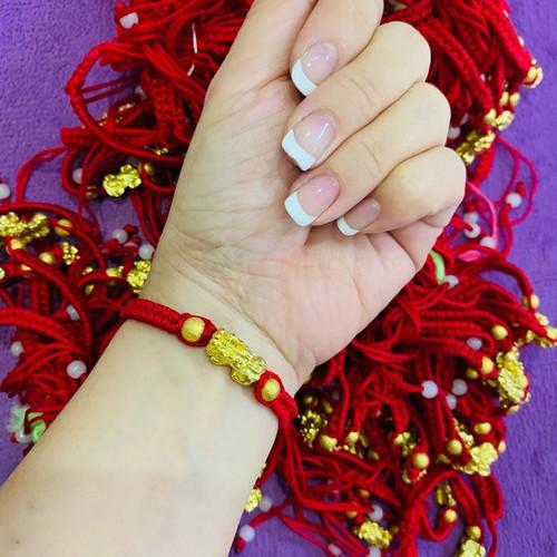 Bộ 5 vòng tay tỳ hưu chỉ đỏ may mắn Thái Lan
