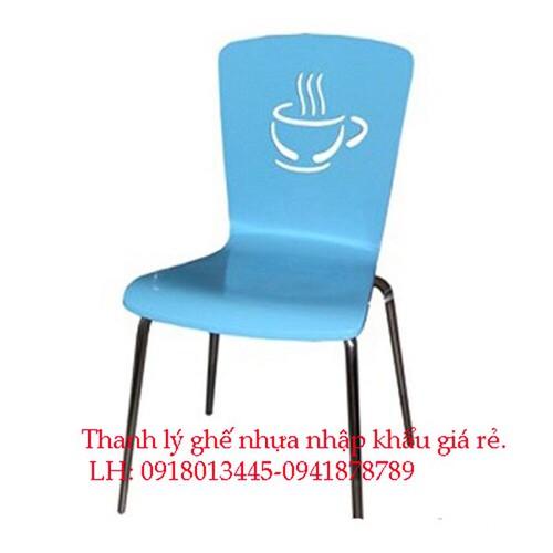Thanh lý gấp 300 ghế nhựa cà phê chân sắt nhập khảu giá rẻ
