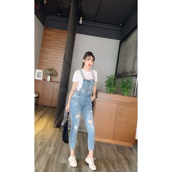 Quần yếm jeans nữ
