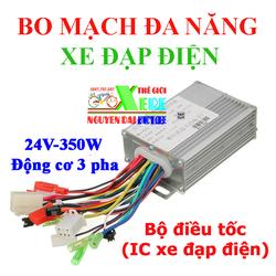 Bộ điều tốc đa năng xe điện- IC xe diện 24V-350W 3 pha không chổi than