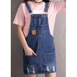 Váy yếm jean ngắn VYN05 - Váy jean