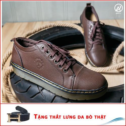 Giày dr nam ngắn cổ đế khâu màu nâu + tl+m92-lc