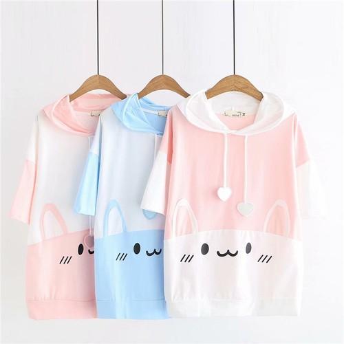 Áo thun hoodie nữ thỏ xinh k163