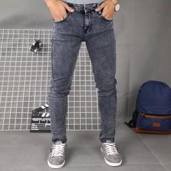 Quần jean nam co giãn xám đậm trơn DD227 shop ĐỊCH ĐỊCH | quần jeans nam | quần nam