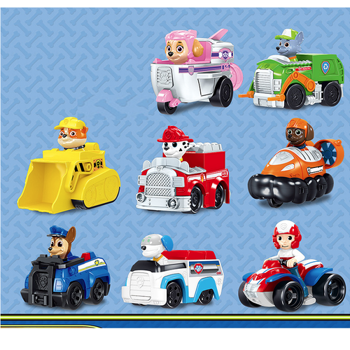 Bộ 8 xe ô tô mô hình chú chó cứu hộ paw patrol đồ chơi trẻ em bằng nhựa