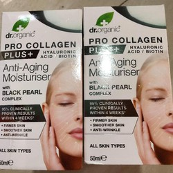 Dr Organic Pro Collagen Plus Black Pearl 50ml dành cho mọi loại da
