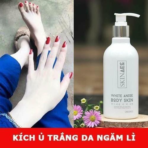 Sữa tắm ủ làm trắng toàn thân skin aec 250 ml