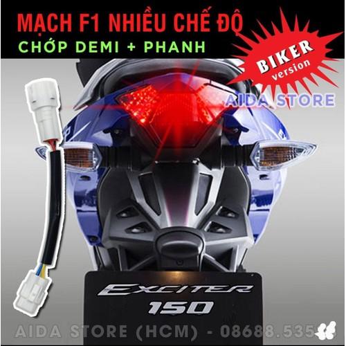 Mạch Sẵn Giắc Zin Tạo Chớp Stop F1 Chuẩn Cho Exciter 150, NVX - đồ chơi xe máy