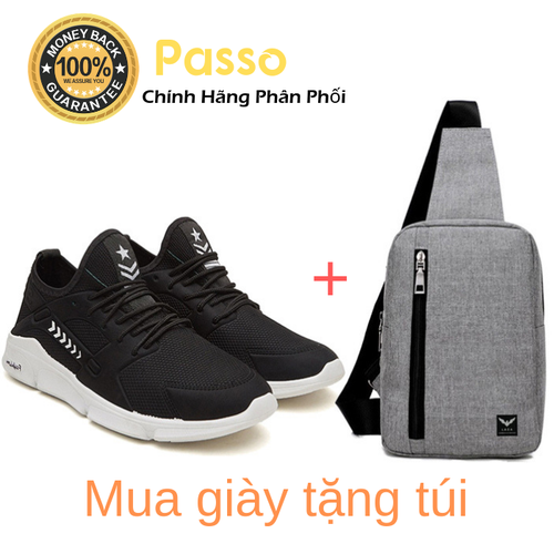 Combo giày thể thao sneaker nam passo g179 và túi đeo chéo laza tx361 - chính hãng phân phối