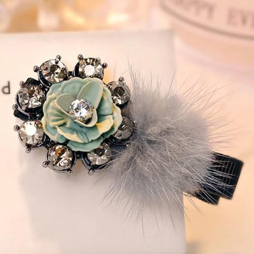 Madam Dzi - Kẹp tóc hoa ban xanh