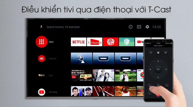 Android Tivi TCL 4K 65 inch L65P8-UF - Điều khiển tivi bằng điện thoại