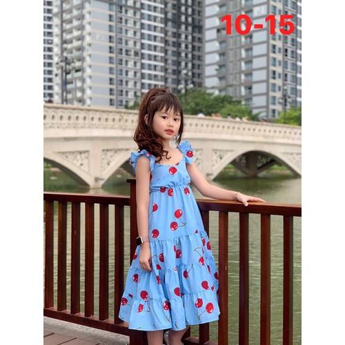 Đầm maxi cherry  phong cách cổ điển