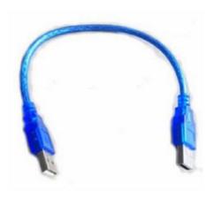 dây cáp nối usb 2 đầu đực 30cm xanh