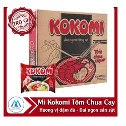 Thùng Mì Tôm Chua Cay Kokomi Thùng 30 gói x 65g