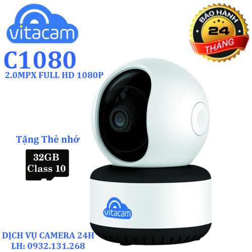Camera wifi vitacam c1080 2mp full hd 1080p - tặng thẻ nhớ 32gb - 17267884 , 19350042 , 15_19350042 , 899000 , Camera-wifi-vitacam-c1080-2mp-full-hd-1080p-tang-the-nho-32gb-15_19350042 , sendo.vn , Camera wifi vitacam c1080 2mp full hd 1080p - tặng thẻ nhớ 32gb