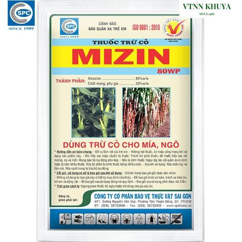 Thuốc trừ cỏ mizin 80wp spc 100gr chuyên trừ cỏ bắp và mía