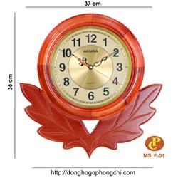 Đồng hồ gỗ treo tường quả lắc F01