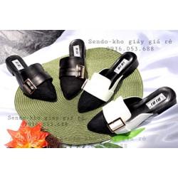 Giày sục nữ phối lưới dáng hàn quốc mang thoáng chân - mã 358