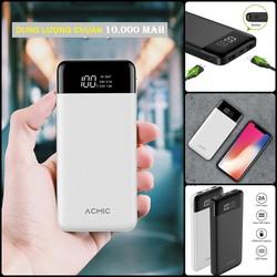 PIN SẠC DỰ PHÒNG cao cấp 10.000 mAh - màn hình LED - 2 cổng sạc - Tích hợp sạc nhanh - Đổi trả 1 -1 miễn phí nếu dung lượng không đúng