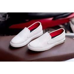 Giày Lười Nam - Giày Slip On Nam Aroti Màu Trắng | Giày Da Nam | Thiết Kế Trẻ Trung , Sang Trọng - Hợp Thời Trang - Dễ Phối Với Nhiều Loại Trang Phục Khác Nhau - Đảm Bảo Chất Lượng Và Giá Tốt- Nhận Hàng Thanh Toán Tiền Ship Cod Toàn Quốc- Vòng + M498