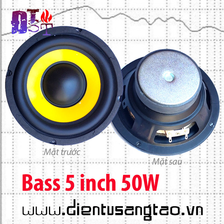 Củ loa bass siêu trầm 5 inch 50W Vàng đen
