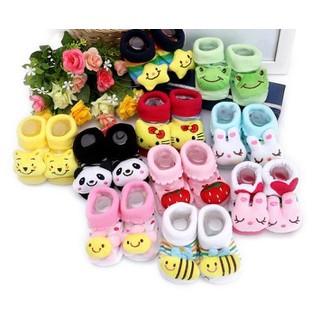 Giày tất tập đi - Set 4 đôi vớ hình thú 3D ngộ nghĩnh cho bé(0-12 tháng)- ngẫu nhiên