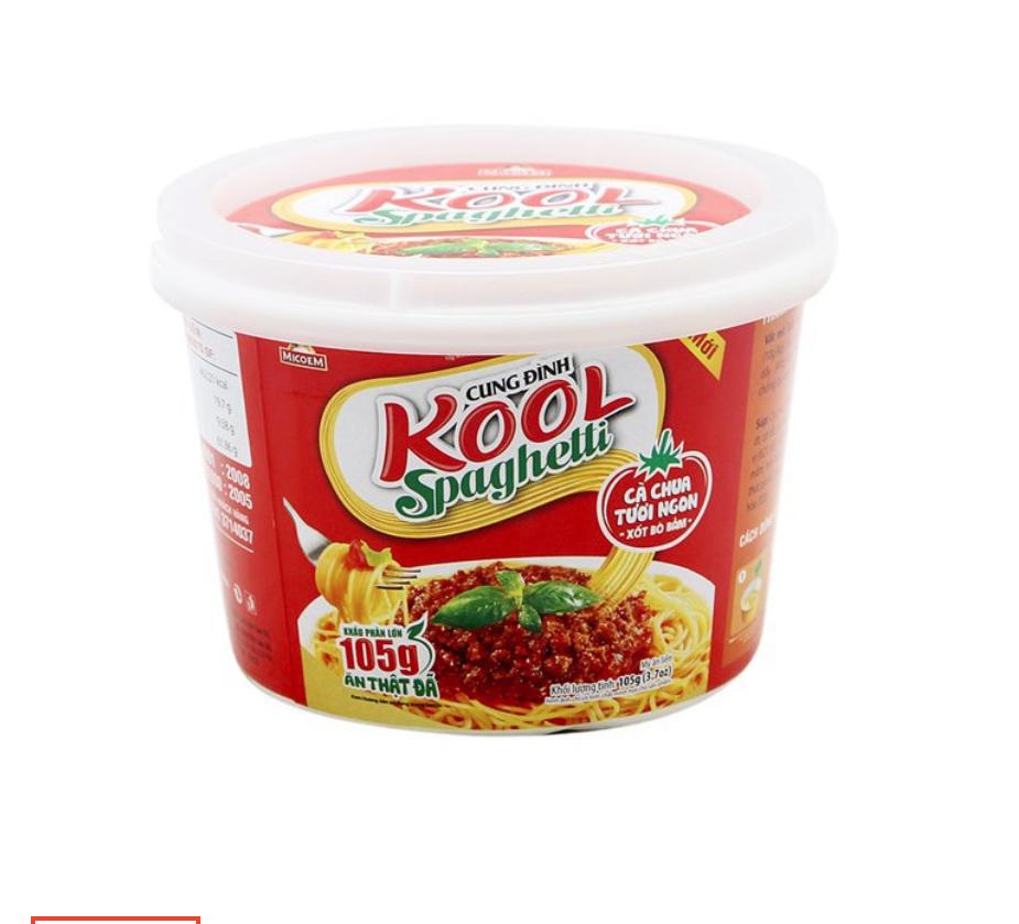 Mì Cung Đình Kool Sợi Khoai Tây Sốt Spaghetti Thịt Bò Bằm - 8936010680906