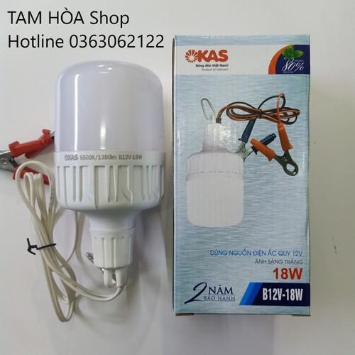 Bóng đèn led kẹp acquy 12vdc 18w okas siêu sáng tiết kiệm điện