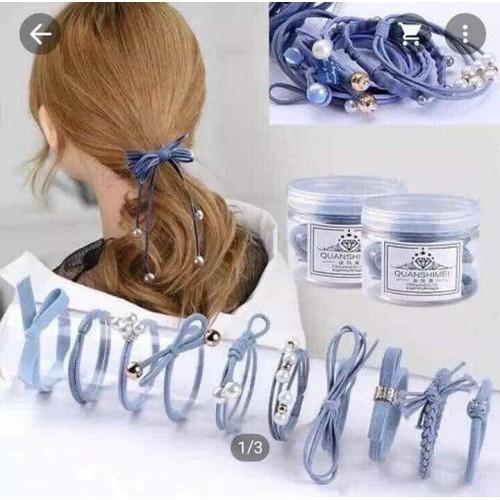 Bộ dây buộc tóc 12 kiểu