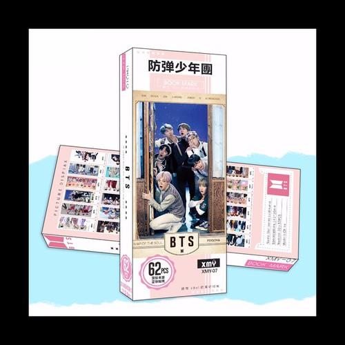 Bookmark bts 5 hộp ảnh tập ảnh đánh dấu sách kẹp sách tiện lợi 36 tấm dụng cụ học tập hình ảnh nhóm nhạc thần tượng