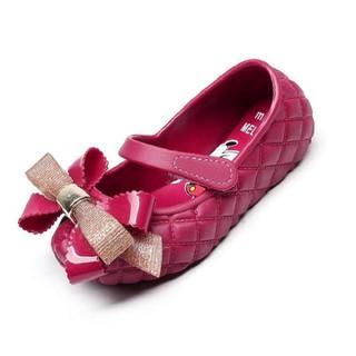 Giày nhựa thơm cho bé , giày búp bê quai dán ngang thuận tiện đính nơ to cho bé từ 2-10 tuổi - GBB005 thumbnail