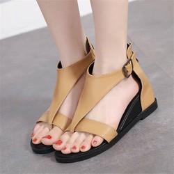 Giày Sandal đế xuồng nữ xỏ ngón chữ V - LN1712