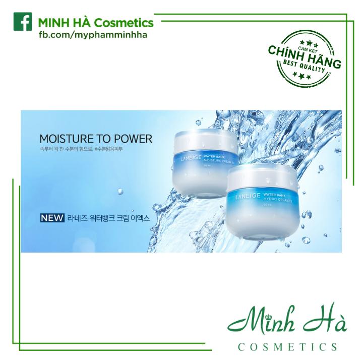 [Bill ảnh bên cạnh] [Mẫu mới 2019] Kem dưỡng ẩm chuyên sâu Laneige Water Bank Moisture - Hydro cream EX