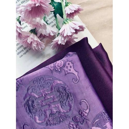 Sét vải áo dài họa tiết lụa tơ Hội An