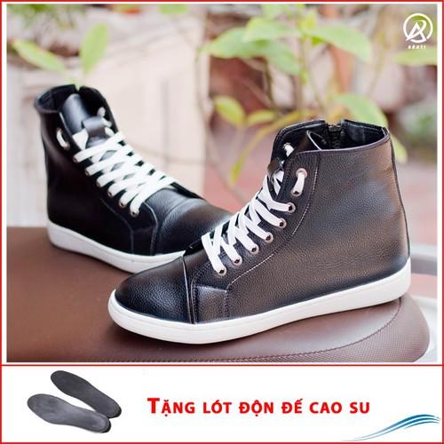 Giày nam- giày thể thao cao cổ da sần màu đen   đế chắc chắn   thiết kế trẻ trung, sang trọng- hợp thời trang- dễ phối với nhiều loại trang phục khác nhau - đảm bảo chất lượng và giá tốt nhận hàng tha - 19170851 , 19381591 , 15_19381591 , 250000 , Giay-nam-giay-the-thao-cao-co-da-san-mau-den-de-chac-chan-thiet-ke-tre-trung-sang-trong-hop-thoi-trang-de-phoi-voi-nhieu-loai-trang-phuc-khac-nhau-dam-bao-chat-luong-va-gia-tot-nhan-hang-thanh-toan-tien-sh