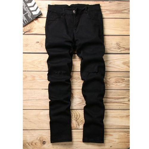Quần jean nam đen co giãn rách gối DD220. shop ĐỊCH ĐỊCH | quần jeans nam | quần nam