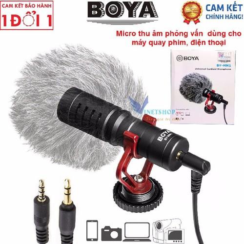 Microphone cho máy ảnh, micro thu âm cao cấp boya by-mm1 dùng cho máy ảnh dslr, action camera, và điện thoại, kết hợp đa năng với gimbal, hàng chính hãng bh 12 tháng - 11862220 , 19388635 , 15_19388635 , 699000 , Microphone-cho-may-anh-micro-thu-am-cao-cap-boya-by-mm1-dung-cho-may-anh-dslr-action-camera-va-dien-thoai-ket-hop-da-nang-voi-gimbal-hang-chinh-hang-bh-12-thang-15_19388635 , sendo.vn , Microphone cho máy