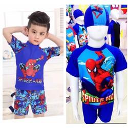 Đồ bơi bé trai spiderman xuất xịn kèm nón 25-35kg