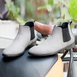 Giày Chelsea Boot Nam Cổ Chun Phong Cách Hàn Quốc   Đế Chắc Chắn  Thiết Kế Trẻ Trung, Sang Trọng- Hợp Thời Trang - Dễ Phối Với Nhiều Loại Trang Phục Khác Nhau-Đảm Bảo Chất Lượng Và Giá Tốt Nhận Hàng Thanh Toán Tiền Ship Cod Toàn Quốc - Buckxam- Cb520
