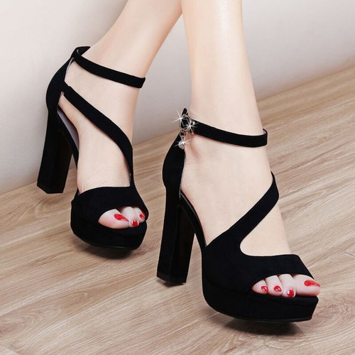 Giày cao gót đan chéo cao câp