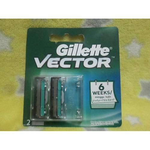 Bộ 2 đầu dao cạo râu gillette vector