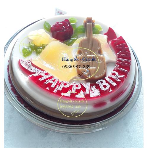 Khuôn rau câu sinh nhật 30 cm - có chữ happy birthday đẹp dễ thương và ý nghĩa