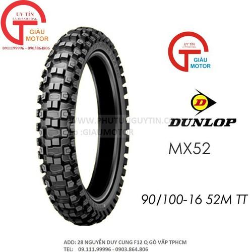 Lốp dunlop 90.100-16 mx52 tt 52m vỏ xe máy dunlop size 90-100-16 mx52 tt 52m
